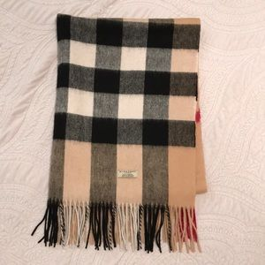 Burberry London Check Cashmere Scarf
